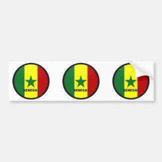 Senegal Roundel quality Flag Bumper Sticker