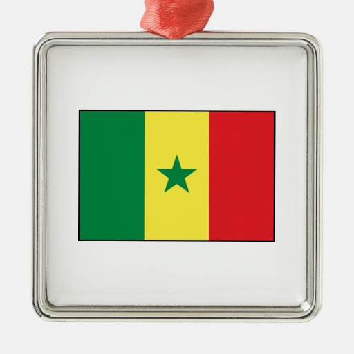 Senegal – Senegalese Flag Christmas Tree Ornaments