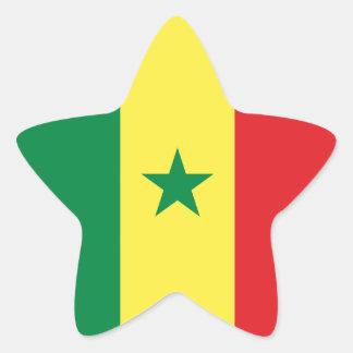 Senegal/Senegalese Flag Star Sticker