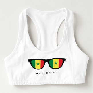 Senegal Shades custom sports bra