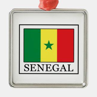 Senegal Silver-Colored Square Decoration