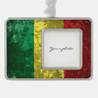 Senegal Silver Plated Framed Ornament