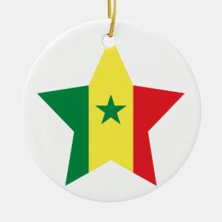 Senegal Star Round Ceramic Decoration