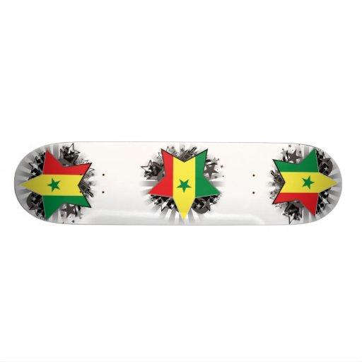 Senegal Star Skate Board Deck