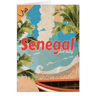 Senegal vacation Vintage Travel Poster. Card