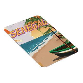 Senegal vintage beach poster magnet