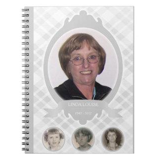 senescence photo memorial announcements notebook