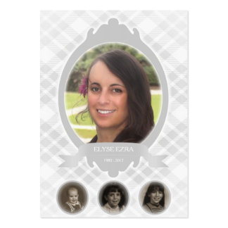 senescence photo memorial announcements pack of chubby business cards