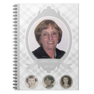 senescence photo memorial announcements spiral notebooks