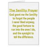 Senility Prayer Greeting Card