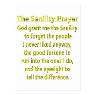 Senility Prayer Post Card