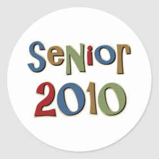 Senior 2010 classic round sticker