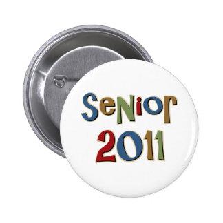Senior 2011 6 cm round badge