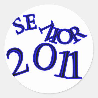 Senior 2011 Blue Round Sticker