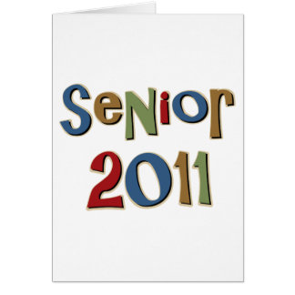 Senior 2011 greeting card