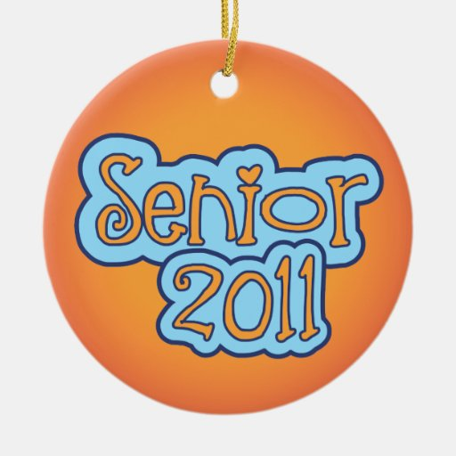 Senior 2011 - front and back ornaments