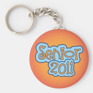 Senior 2011 basic round button key ring