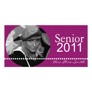 Senior 2011 Personalized Announcement Photocard Customised Photo Card