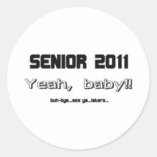 Senior 2011 round sticker