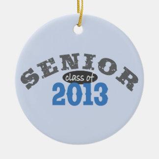 Senior 2013 Blue Round Ceramic Decoration