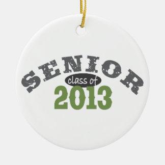 Senior 2013 Green Round Ceramic Decoration