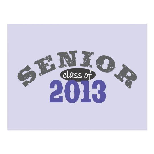 Senior 2013 Purple Postcard