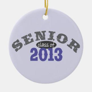 Senior 2013 Purple Round Ceramic Decoration