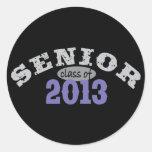 Senior 2013 Purple Round Stickers