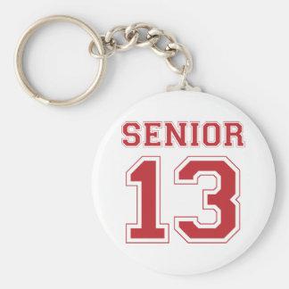 Senior 2013 - Red Basic Round Button Key Ring