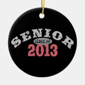 Senior 2013 Red Round Ceramic Decoration