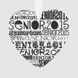 Senior 2015 Heart - Rearview Mirror Ornament