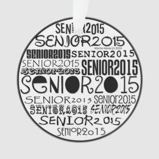 Senior 2015 Round - Rearview Mirror Ornament