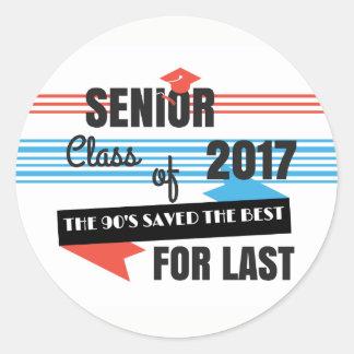 Senior 2017 Last of the 90's Stickers