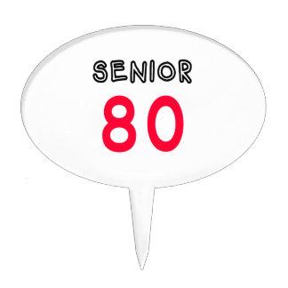 Senior 80 cake pick