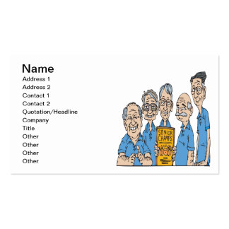 Senior Bowling Champs Pack Of Standard Business Cards