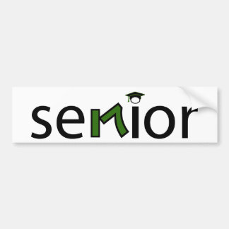 senior bumper sticker 2017 - green