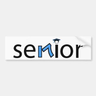 senior bumper sticker 2017 - light blue