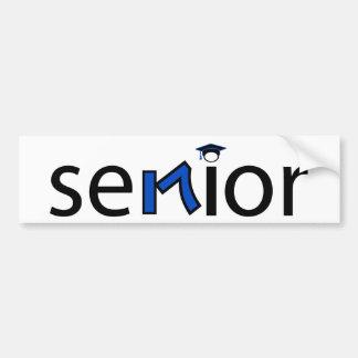 senior bumper sticker 2017 - med blue