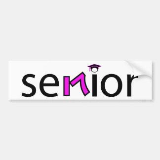 senior bumper sticker 2017 - pink