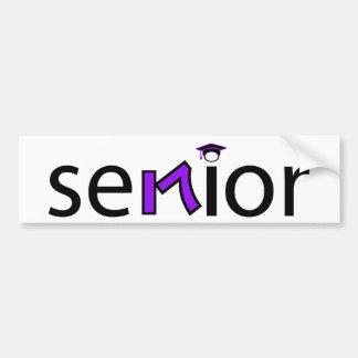 senior bumper sticker 2017 - purple