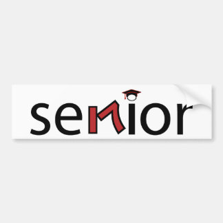 senior bumper sticker 2017 - red