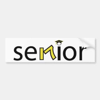 senior bumper sticker 2017 - yellow