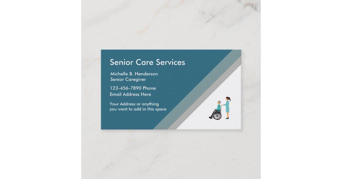 Senior Caregiver Business Card Template | Zazzle.co.uk