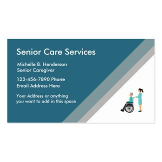 Senior Caregiver Business Card Template