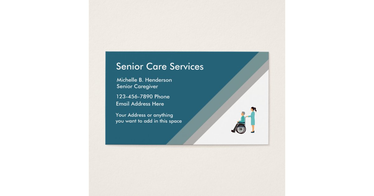 Senior Caregiver Business Card Template | Zazzle.co.uk