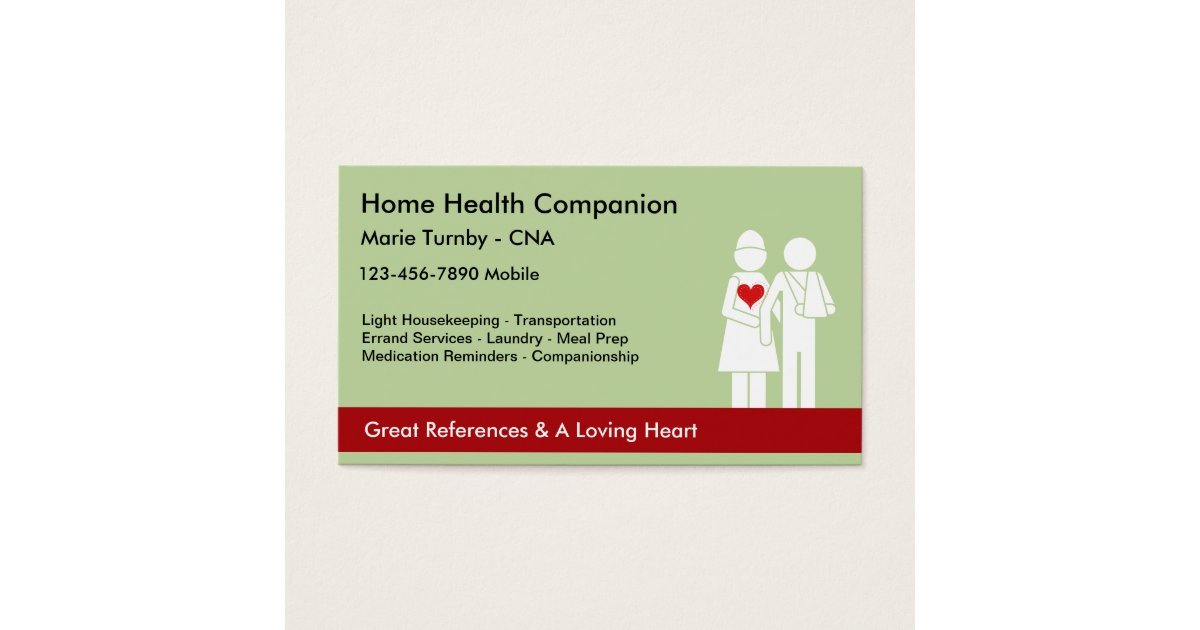 Senior Caregiver Business Cards | Zazzle.co.uk