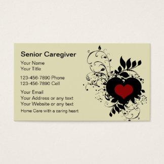 Senior Caregiver Business Cards