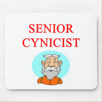 senior citizen cynic mouse mat