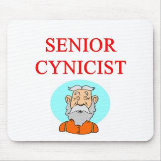 senior citizen cynic mouse pad