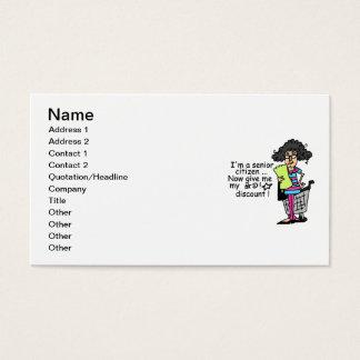 Senior Citizen Discount Business Card